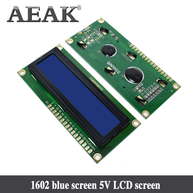 AEAK 1PCS LCD1602 1602 module Blue screen <font><b>16x2</b></font> Character <font><b>LCD</b></font> <font><b>Display</b></font> Module HD44780 Controller blue blacklight image