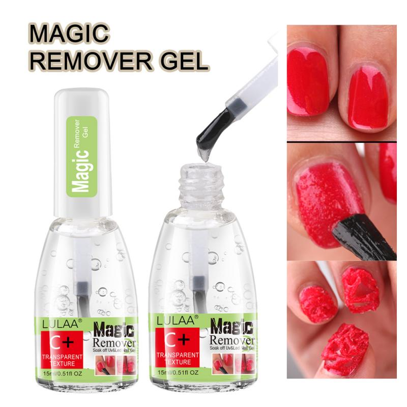 LULAA 15ML Magic Remover Nail Polish Burst Magic Gel Nail Polish Remover Soak Off Nail Cleaner Degreaser UV Gel Nail Polish Remo