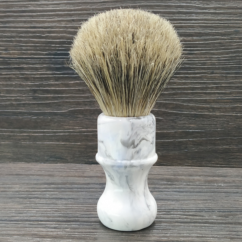 Dscosmetic Boar Bristle Hair And Badger Hair Knot Shaving Brush Resin Handle
