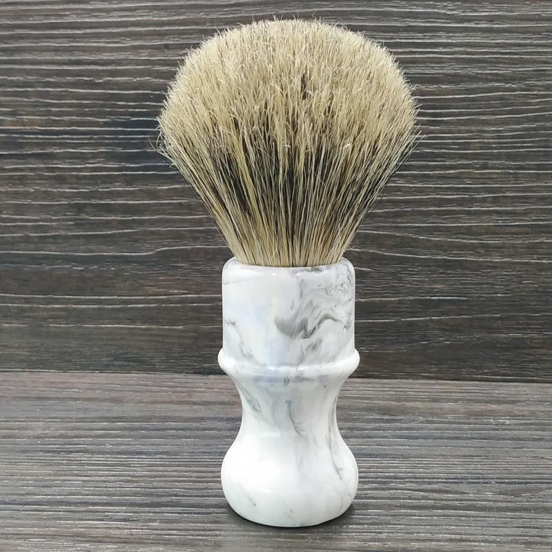 Dscosmetic Boar Bristle Hair And Badger Hair Knot Shaving Brush Resin Handle