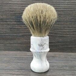 Dscosmetic pelo de cerdas de jabalí y pelo de tejón cepillo de afeitar mango de resina