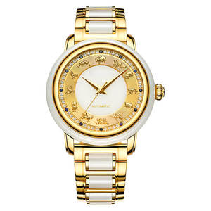 Wrist-Watch Jade Table-Tf6009 12-The-Chinese-Zodiac-Drill Shell-Noodles Free-Wheel Low-Hill