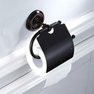 Black Oil Rubbed Brass Toilet Paper Holder Roll Holder Tissue Holder Bathroom Accessories Products Paper Hanger ZD1681