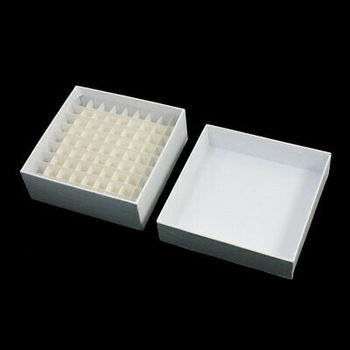 Laboratory 1.8ml Graduated Cryo Vial Container White Paper Cas 81 Positions 5ml graduated polypropylene vial tube sample container blue screw caps 200pcs