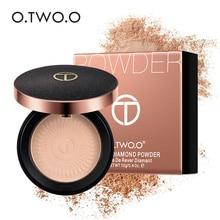 O.TWO.O Натуральный Порошок для лица минеральные основы контроль масла Осветляющий отбеливающий консилер макияж прессованная пудра со спонжем