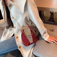 Party Purse Wedding-Handbags Clutches Shoulder-Bag Small-Chain Rhinestones Crystal Women's
