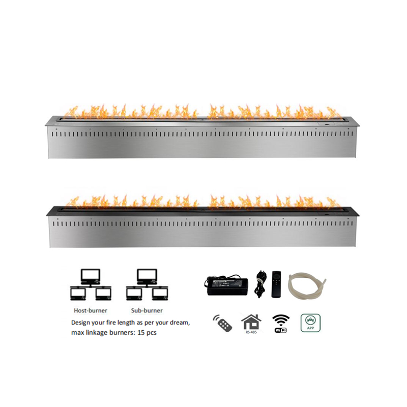 60 inch remote control smart fire place - 6