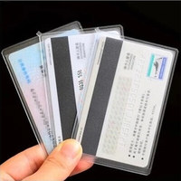 1000pcs 6*9.6cm Frosted Transparent Plastic Card Holder Credit Debit Cards Protector Sleeves Cover Dust proof Wholesale