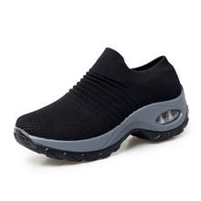 цены на Breathable Light Women Running Shoes Outdoor Walking Cushioning Woman Sport Jogging Shoes Non-slip Sneakers Big Size  в интернет-магазинах