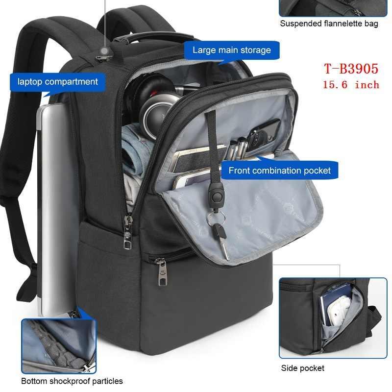 خصم كبير على الموضة حقيبة ظهر للرجال 15.6 بوصة محمول على ظهره مكافحة سرقة السفر RU تسليم سريع التخليص بيع أدنى سعر
