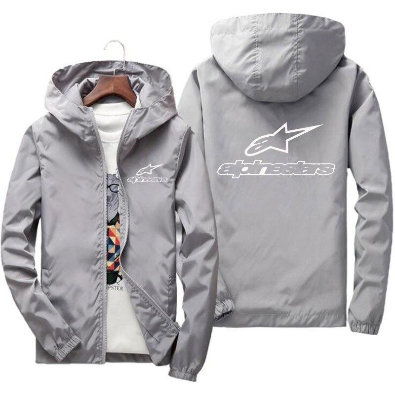 2020 primavera e verão nova alta montanha estrela jaqueta de rua dos homens blusão com capuz zíper fino jaqueta masculina jaqueta casual 7xl 3