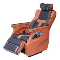 Jourm Luxury leather captain auto chair with footrest Electric seat for Land Cruiser Golden Dragon Bus Lincoln Navigator Tuiano