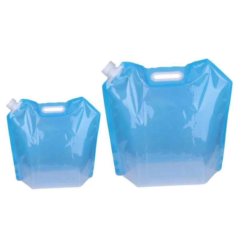 Recipiente para almacenamiento de agua plegable PVC portátil para Camping al aire libre bolsas de transporte de agua respetuosas con el medio ambiente plegable reutilizable