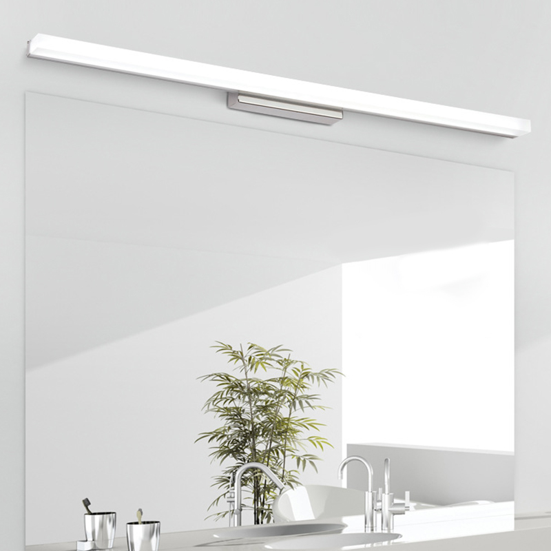 12W Modern Bathroom Light Stainless Steel LED Front Mirror Light Makeup Wall Lamp Vanity Lighting Fixtures Mirror Lamp