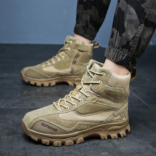Tactical Military Boots Men Genuine Leather US Army Hunting Trekking Camping Mountaineering Winter Work Shoes Zapatos Hombre 6