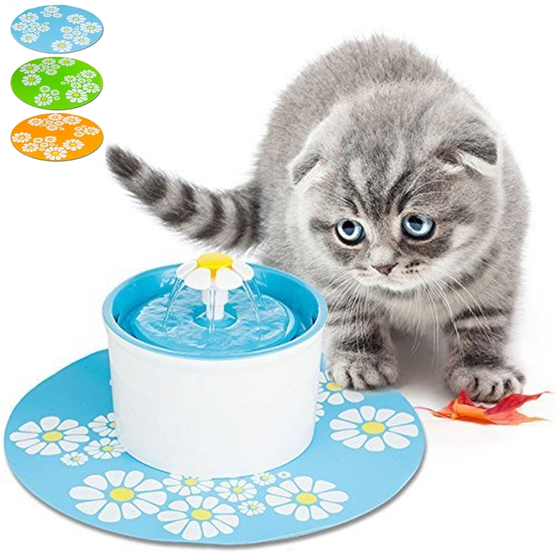 1PC Dropshipping Automatic Cat Water Fountain Dispenser Mat Electric Water Drinking Fountain Dog Cat Pet Drinker Mat Accessories