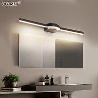 9W 13W 17W LED קיר מנורת חדר אמבטיה חדר שינה תאורה לבן שחור צבוע מראה אור Luminaria AC85-265V חדש עמיד למים Luminaire
