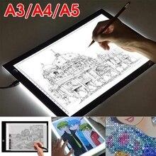 A3 A4 A5 tableta Digital gráfica LED diamante pintura luz de placa portátil placa electrónica Ultra delgada con escala de dibujo