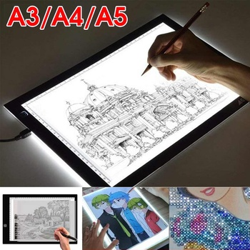 A3 A4 A5 Digital Graphic Tablet LED Diamond Painting Light Pad Board Portable Electronic Board Ultra Thin With Scale For Drawing