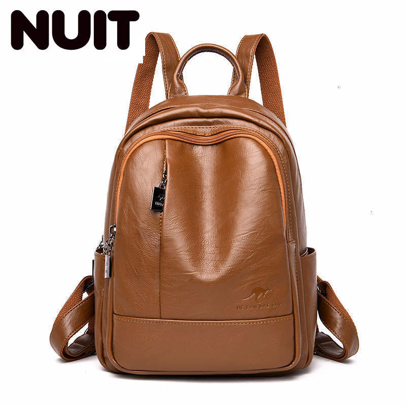 2020 Women Backpacks Leather Female Travel Bagpack Ladies Sac A Dos School Bags For Girls Preppy Style Large Capacity Back Pack