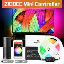 Gledopto 5V Usb Led Strip Licht Tv Achtergrond Verlichting Kit Led Rgbcct Zigbee Smart App Amazon Alexa Echo Plus desktop Achtergrond
