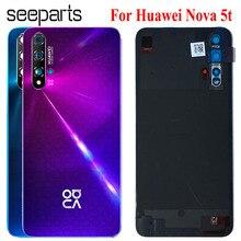 Nouveau dos pour Huawei Nova 5t couvercle de batterie Honor 20 se boîtier de porte arrière boîtier arrière remplacé téléphone Huawei Honor 20se couvercle de batterie