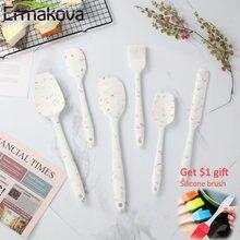 Ermakova 6-pcs produto comestível silicone antiaderente manteiga cozinhar espátula conjunto biscoito pastelaria raspador escova bolo cozimento ferramenta de mistura