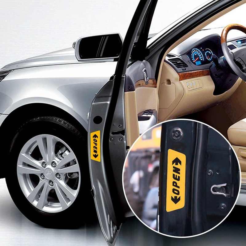Avertissement marque nuit conduite sécurité porte autocollants pour corolla renault clio subaru renault megane 2 passat b6 golf 5 citroën c3