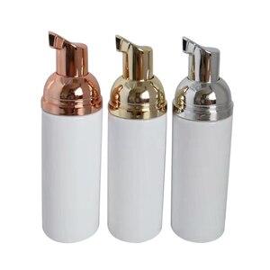 Image 3 - 30ps 60ml Plastic Foam Pump Bottle Refillable Empty Cosmetic Bottle lashes Cleanser Soap Dispenser Shampoo bottle with golden