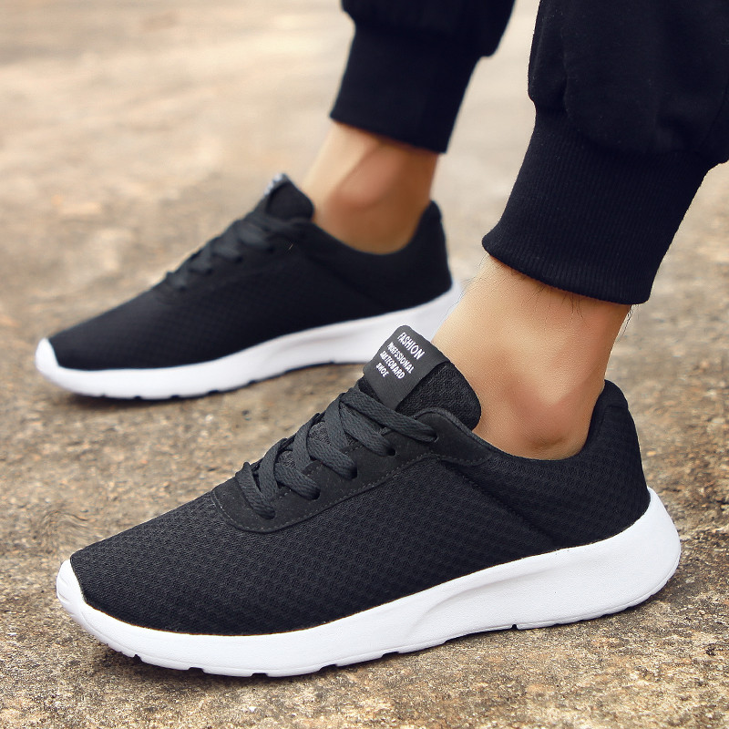 2019 New Men's Casual Shoes Male Sneakers Lightweight Breathable Shoes Light Tenis Masculino Adulto Lace-UpHard-Wearing Fashion