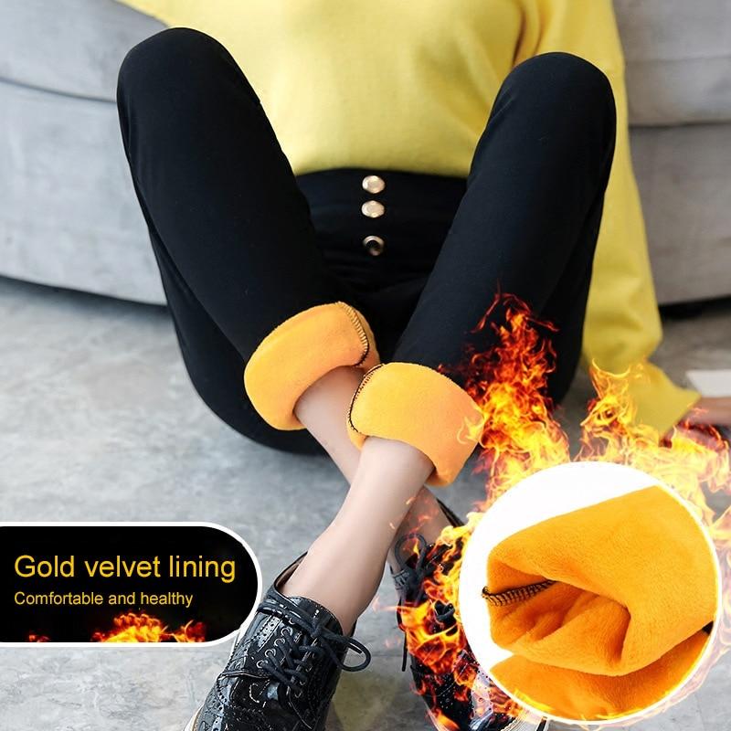 Осенне зимние брюки женские, спортивные штаны для женщин, корейский Толстый хлопок, плюс флис, леггинсы, теплые штаны, высокая эластичность, женские штаны|Брюки |   | АлиЭкспресс