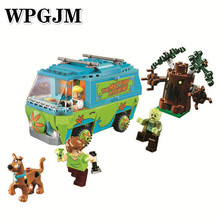 Compatible Legoinglys Scooby Doo Mystery Machine Bus Building Block Mini Toys with Christmas Gift With