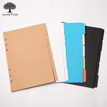 Colorful thick paper Separator Rings Notebook 6 hole Index Page A5 A6 L