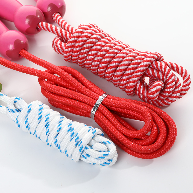 Hemu Handle Children Jump Rope New Products Students Cartoon Animal Wood Jump Rope Kindergarten Young STUDENT'S Sports Jump