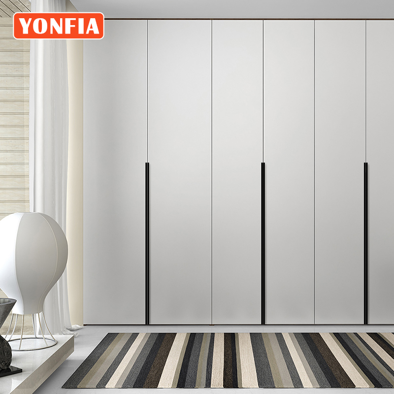 YONFIA 3699S Aluminium Profile Conceal Wardrobe Cabinet Drawer Pulls Handle Long Concealed Edge Cupboard Closet Pull Door Handle