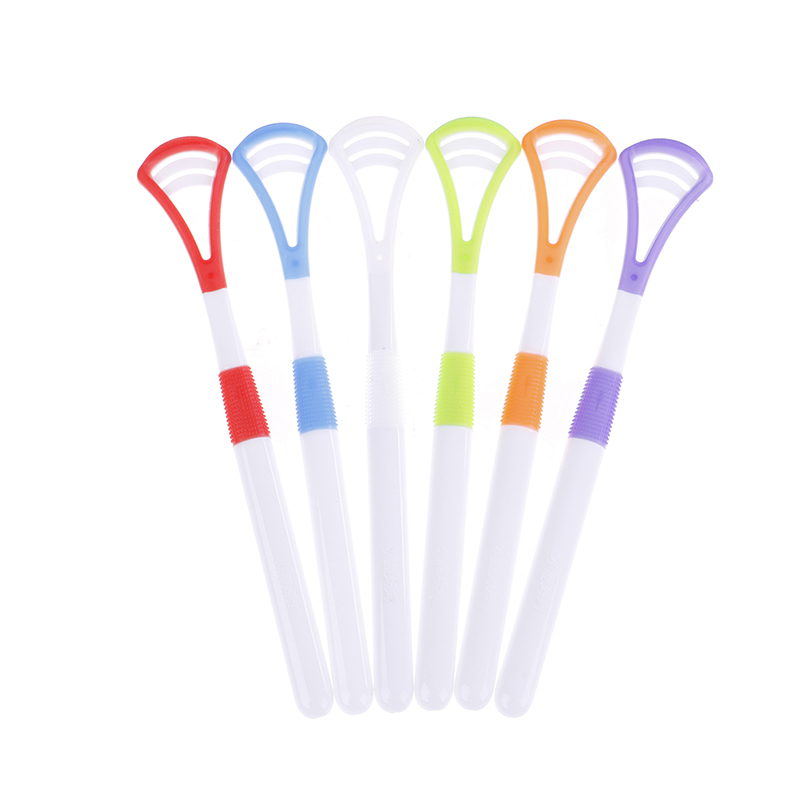 2Pcs/Set Plastic Tongue Cleaner Scraper Care Professional Oral Hygiene Mouth Random Tongue Cleaner Scraper Random