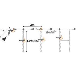 Image 3 - مصابيح led راسيموس قابلة للتوصيل بطول 4 × 2.5 متر أضواء سلسلة لحفلات الزفاف أضواء خرافية للكريسماس مصابيح led خارجية للحفلات في الحديقة زينة للفناء وشجرة الحفلات