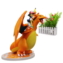 Anime Charizard Ash Ketchum PVC Action Figure Anime Toy 160cm Game Charizard Ketchum Figurine Collectible Toys Diorama