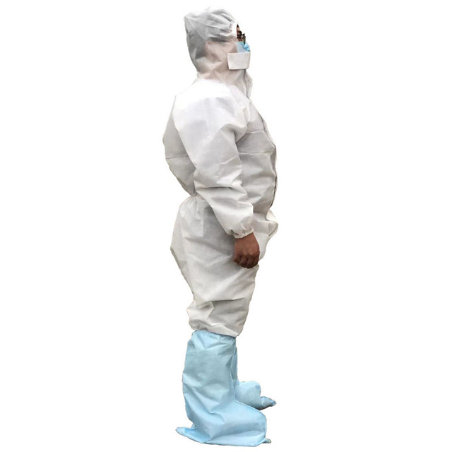 Coveralls Safety Protective Suit Workwear PPE Clothing Protection Hazmat Suit For Outdoors Hospital Laboratory Workshop 1
