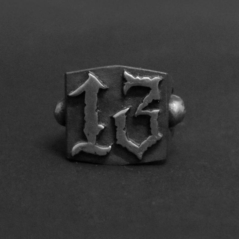 Модное кольцо в стиле панк-рок с 13 буквами, мужские стильные кольца из нержавеющей стали для женщин, Ретро Свадебные ювелирные изделия на за...