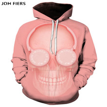 Skull headr Men Hoodies Sweatshirts 3D Printed Funny Hip HOP Novelty Streetwear Hooded Autumn Jackets Male Tracksuits