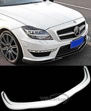 ด้านหน้า LIP สปอยเลอร์สำหรับ Mercedes Benz W218 ใหม่ CLS63 กันชน 2011UP