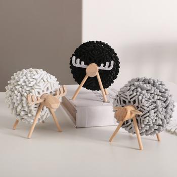 Nordic Ins stylowe wzór owiec podstawki Home Decor filcowe podkładki Cafe podstawki pod kubek kawy zestaw kreatywne ozdoby rekwizyty fotograficzne tanie i dobre opinie CN (pochodzenie) E08VVVC4 Ekologiczne Nowoczesne ROUND Tkaniny Maty i podkładki