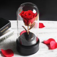 Gift wrapped Natural Flowers Forever Rose Birthday Present For Valentine's Day Valentine's Day Artificial Flower Decoration