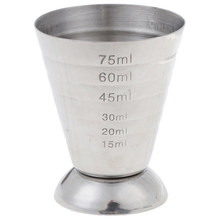 75ml Stainless Steel Measuring Cup Cocktail Tools 3 In 1 Bar Jigger Cup w/ml/oz Tbsp Measurement Unit Bars Making Mixed Drinks(China)