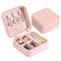 Коробка для ювелирных изделий портативный органайзер для хранения на молнии Портативный Женский дисплей Дорожный Чехол