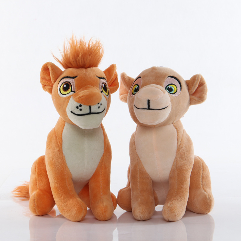 2pcs/lot 13-23cm Simba The Lion King Pendant Clip Keychain Plush Toys Simba Soft Stuffed Toys Doll For Kids Children  Gifts