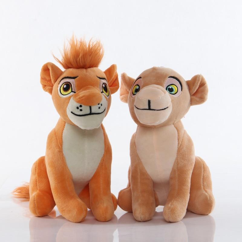 2pcs/lot 13-23cm Simba The Lion King Pendant Clip Keychain Plush Toys Simba Soft Stuffed Toys Doll For Kids Children  Gifts