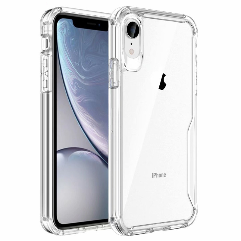 High Quality Thick Anti-collision Transparent TPU Case For iPhone11 Pro XMAX X Clear Soft Cover for iPhone11 XR XS Capa Coque