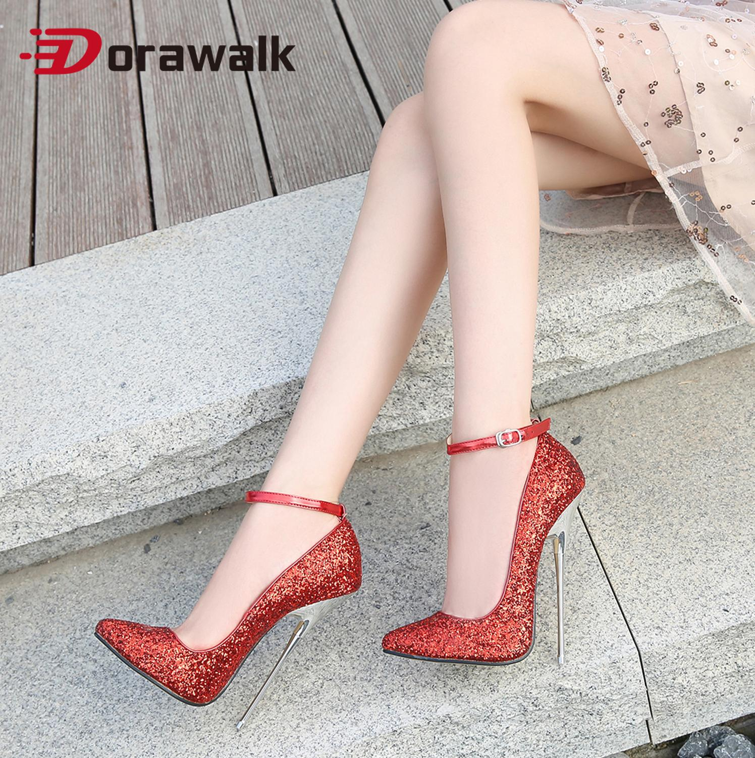 2020 New Arrival Women 16cm Extreme High Heel Pumps Pointed Toe Sexy Thin Heel Fetish Stilettos Party Unisex Shoes Large Size 46